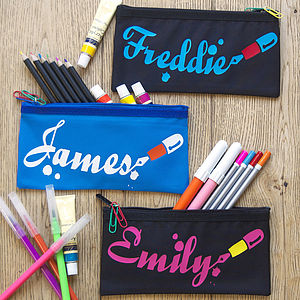 Personalised Fountain Pen Name Pencil Case - stationery