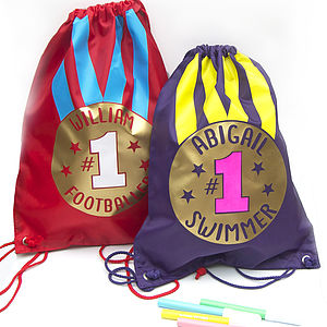 Personalised Sport Gold Medal Kit Bag - sports day