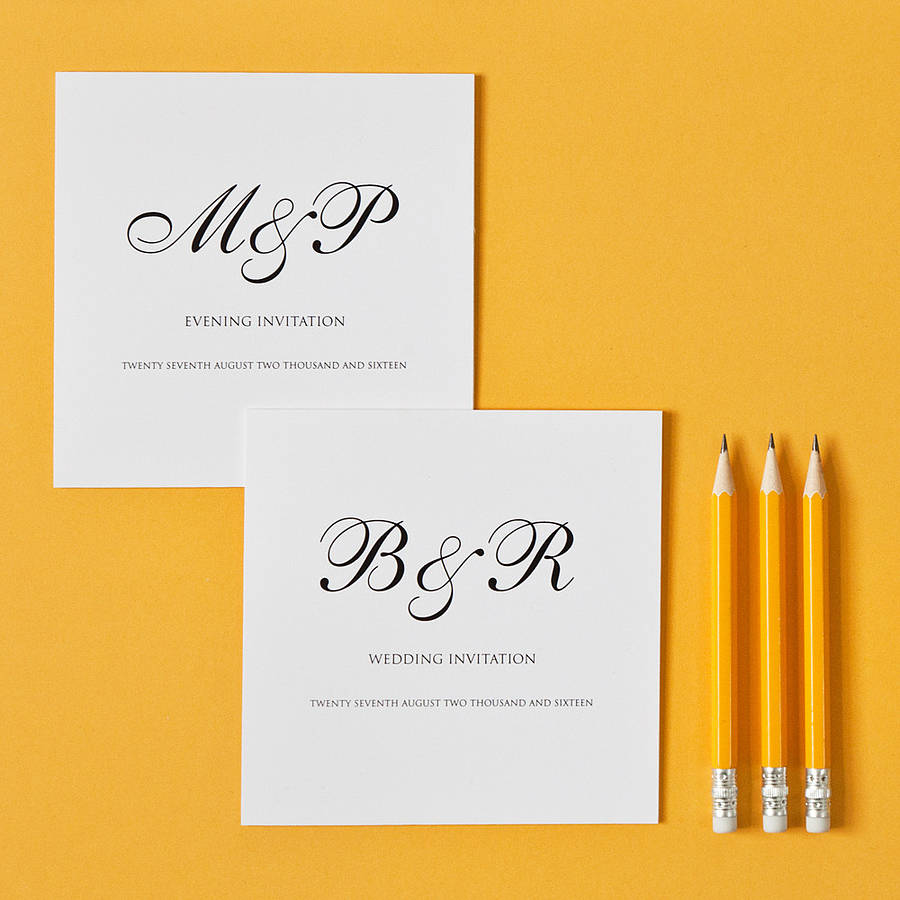 monogram wedding invitation by twentyseven – Wedding Invitation Monograms