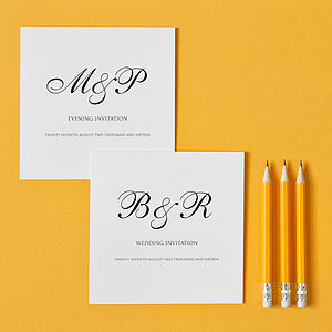 Monogram Wedding Invitation - wedding stationery