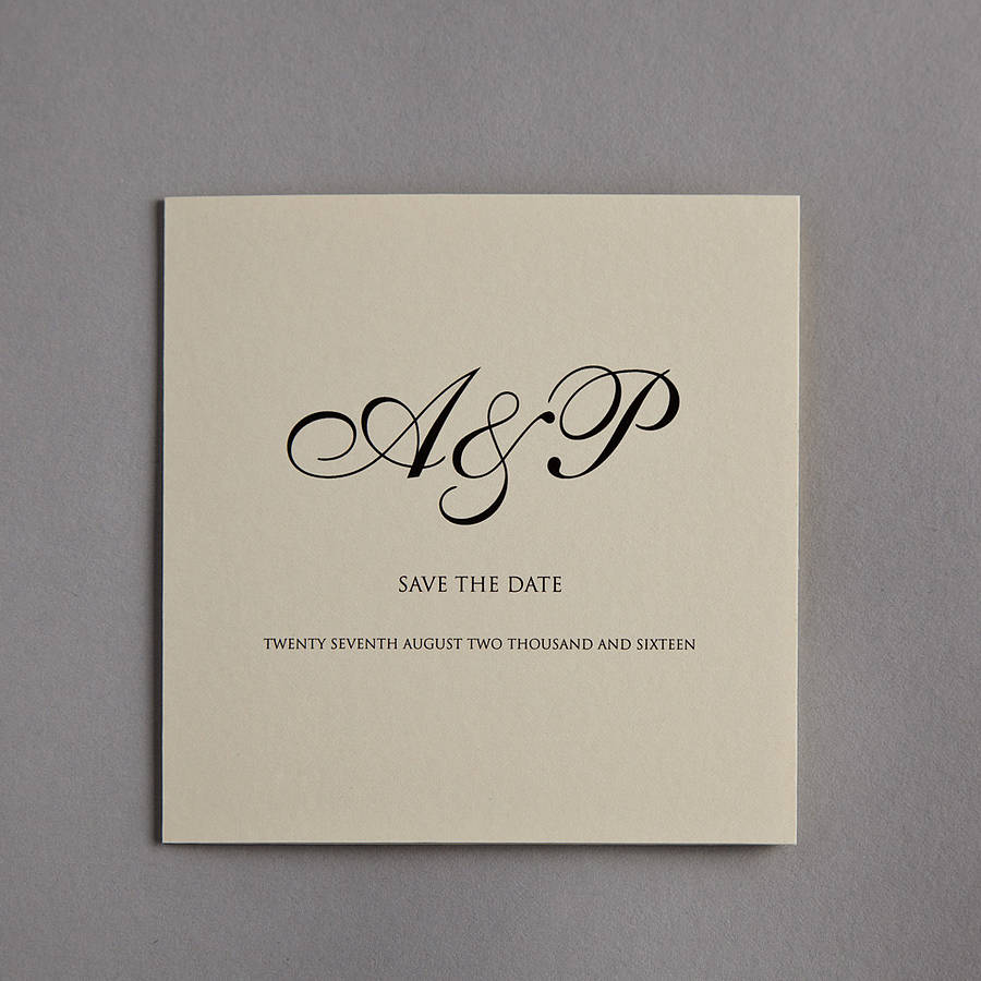 Monogram Wedding Invitation By Twenty Seven Notonthehighstreet Com