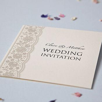 Personalised Lace Wedding Invitation Set