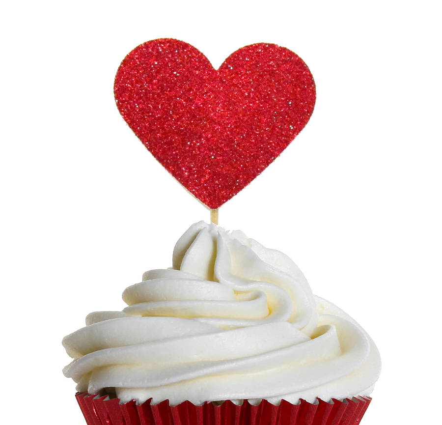 sparkly heart cake decorations by wit & wisdom ...