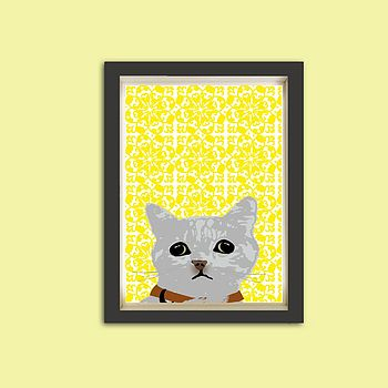 Cat Peeping Fine Art Print