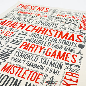 Festive Fun Tea Towel - christmas parties & entertaining