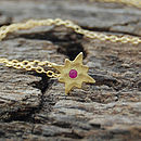 Gold And Red Sapphire Star Pendant
