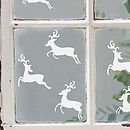 Set Of Six Reindeer Vinyl Wall Or Window Stickers