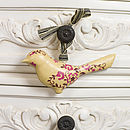 Decorative Handpainted Metal Hanging Bird