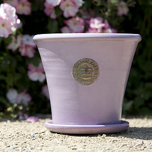 Kew Botanic Gardens Tapered Pot With Saucer - gardening