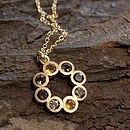 Gold Citrine, Smokey Quartz Rosette Necklace