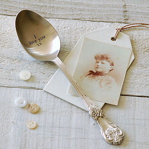 I Love You Vintage Style Spoon - unusual favours
