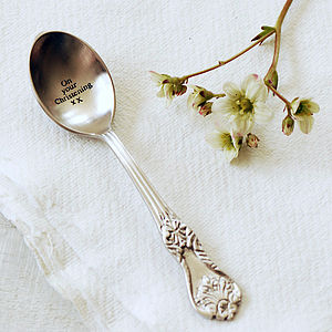 On Your Christening Vintage Style Spoon - christening gifts