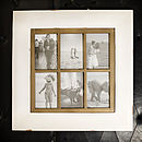 Vintage Six Photo Picture Frame