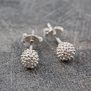 Sterling Silver Bubble Stud Ball Earrings