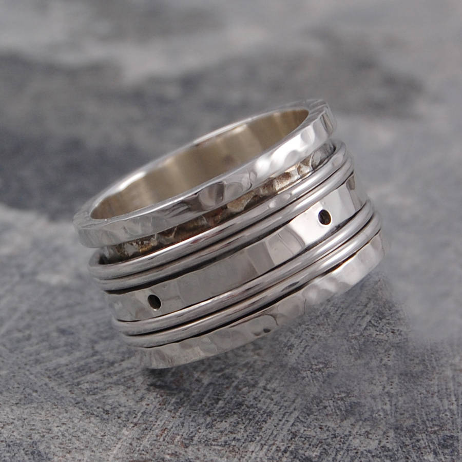 flat with hawaiian sterling products ring rings width koa style wood jewellery silver inlay