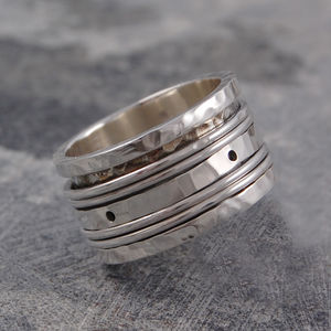 Sterling Silver Spinning Band Ring - wedding jewellery