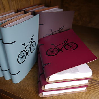Personalised Leather Bicycle Journal