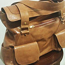 Madison Leather Satchel Bag: Tan