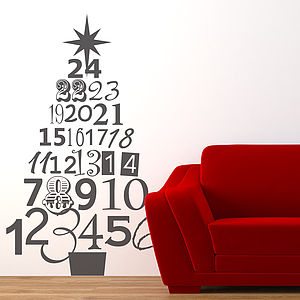 Advent Christmas Tree Wall Sticker - wall stickers