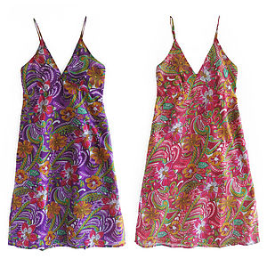 Travel Dress In Drawstring Bag Jungle Flower - dresses