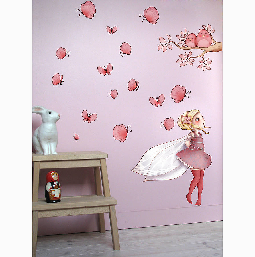 fairy wall sticker by nubie modern kids boutique  notonthehighstreet co