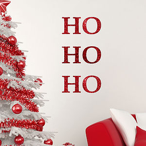 Ho Ho Ho Glitter Wall Sticker - christmas wall stickers