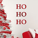 Ho Ho Ho Glitter Wall Sticker