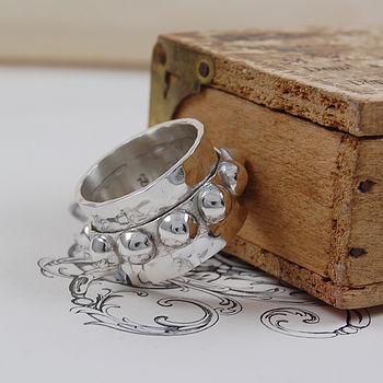 Sterling Silver Crown Spinning Ring