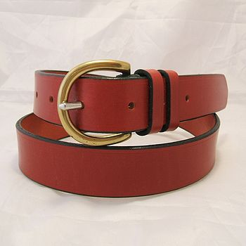 Handmade Lima English Leather Belt