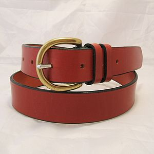 Handmade Lima English Leather Belt - mens