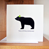 Happy Birthday Daddy Bear Card - father's day