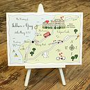 Wedding Or Party Map Full Colour Postcard