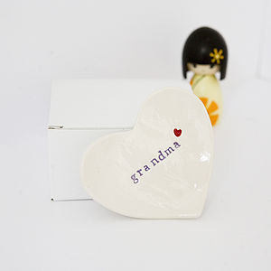 Gift For 'Grandma' Ceramic Ring Dish - jewellery storage & trinket boxes