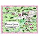 Full Colour Wedding Or Party Map Illustration