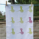 Haathgadi Tea Towel Green