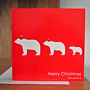 Family Christmas Card Red