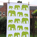Ellie Tea Towel Green