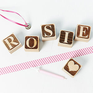 Personalised Letter Building Block - children's room accessories