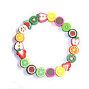 Fruit Salad Slices Bracelet
