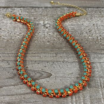 Multi Bead Cord Necklace
