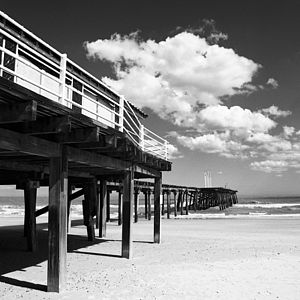 Lowestoft Pier, Black And White Signed Print - contemporary art