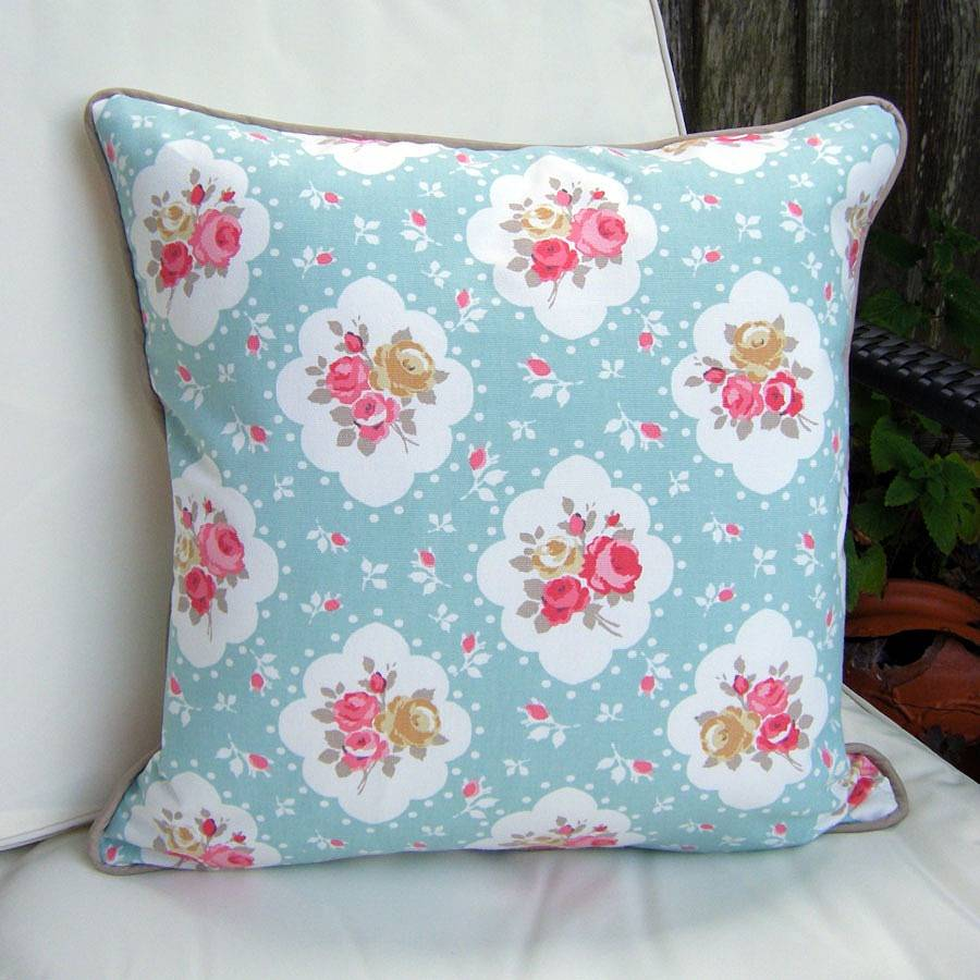 Shabby Chic Floral Rose Cushion By Lovely Jubbly Designs Vintage Story Flower 1