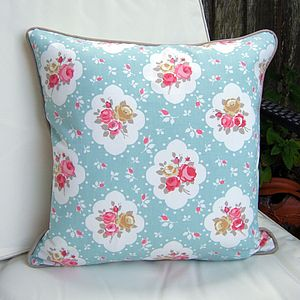 Shabby Chic Floral Rose Cushion - cushions