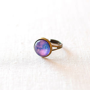 Purple Galaxy Ring - rings