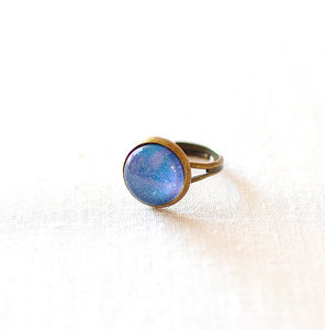 Blue Galaxy Ring - rings