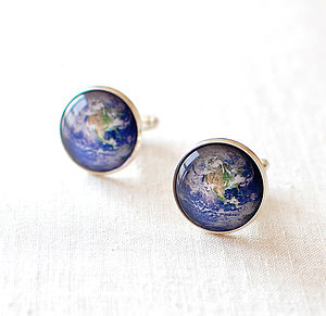 Earth Cufflinks - men's jewellery
