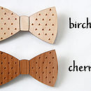 Laser Cut Wooden Bow Tie With Geometric Triangle Print