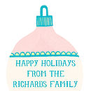 Personalised Christmas Bauble Card