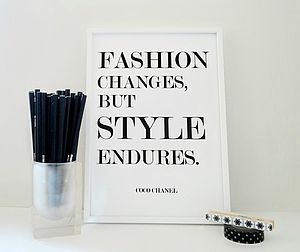 Fashion Changes Coco Chanel Quote
