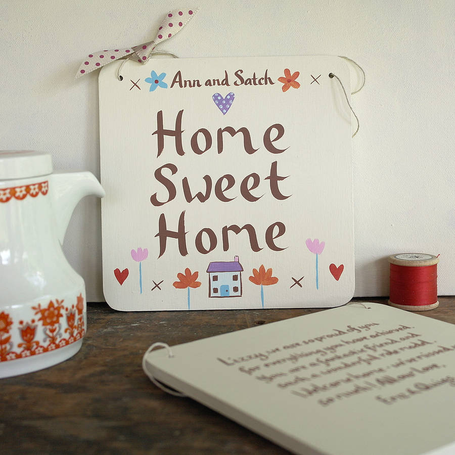 personalised home sweet home sign by gabriella buckingham ...